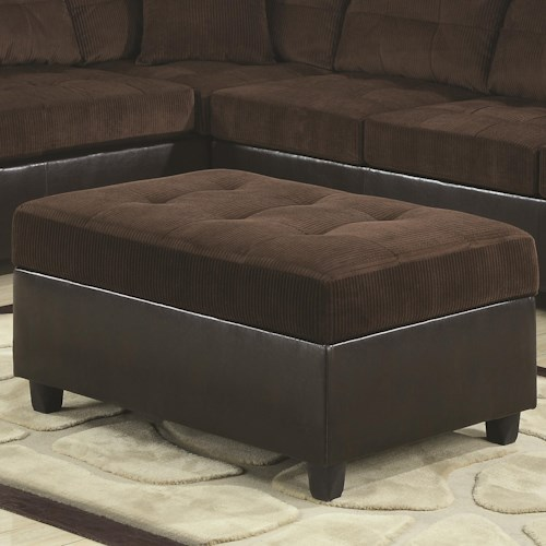 Coaster Henri Casual Contemporary Storage Cocktail Ottoman