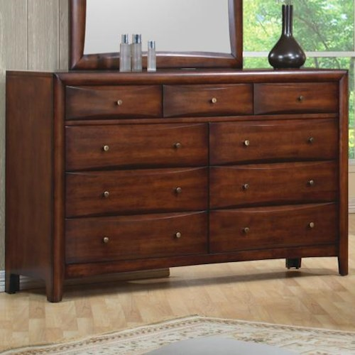 Coaster Hillary and Scottsdale Contemporary 9 Drawer Dresser