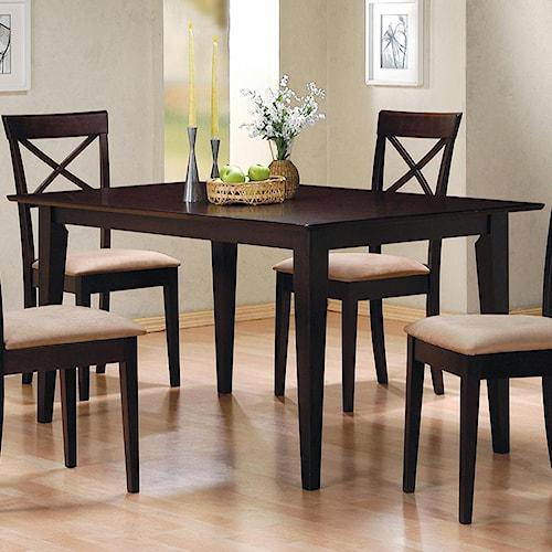 Coaster Mix & Match Rectangle Leg Dining Table