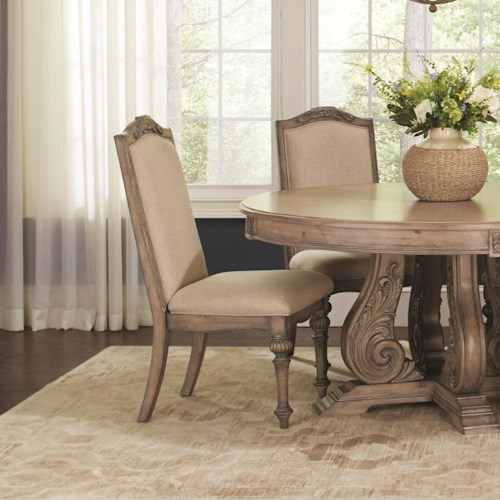 Coaster Ilana Traditional Dining Side Chair with Turned Legs