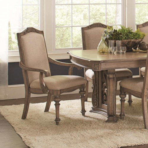 Coaster Ilana Traditional Dining Arm Chair with Turned Legs