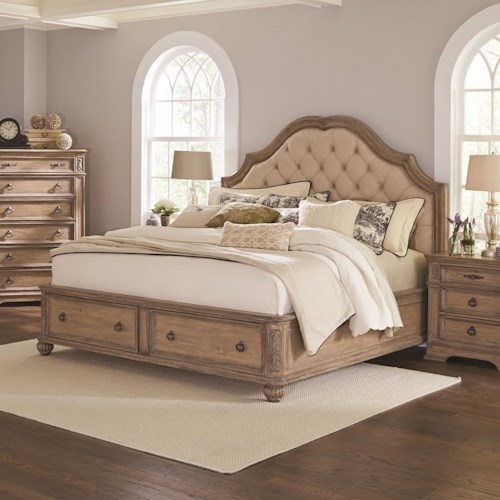 Coaster Ilana California King Storage Bed with Upholstered Headboard