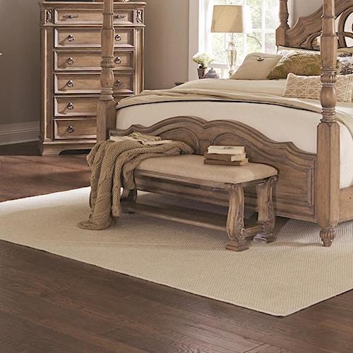 Coaster Ilana Upholstered Bench with Bottom Shelf