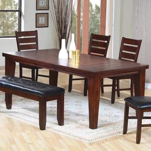 Coaster Imperial Rectangular Dining Table with 18