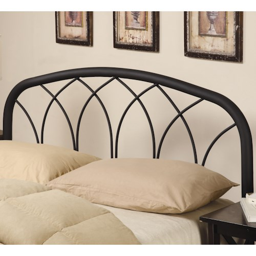 Coaster Iron Beds and Headboards Full/Queen Modern Black Metal Headboard
