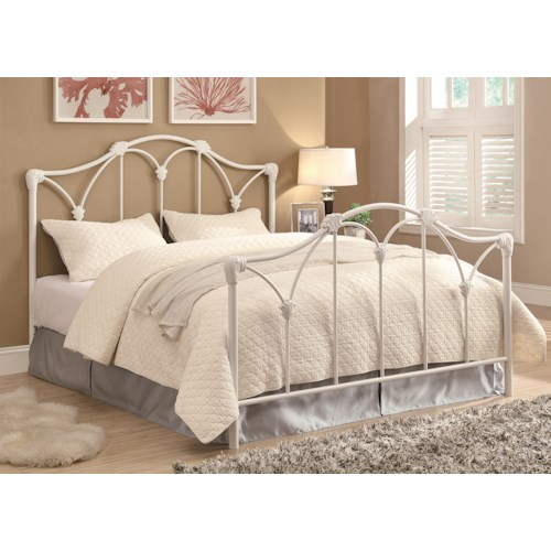coaster iron beds and headboards traditional white iron queen bed