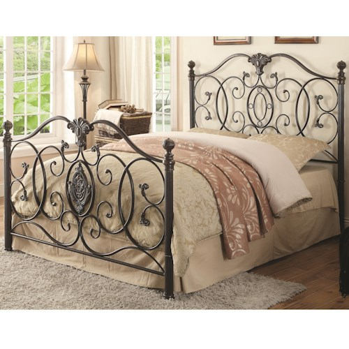 Coaster Iron Beds and Headboards Gianna King Iron Bed with Scroll Design