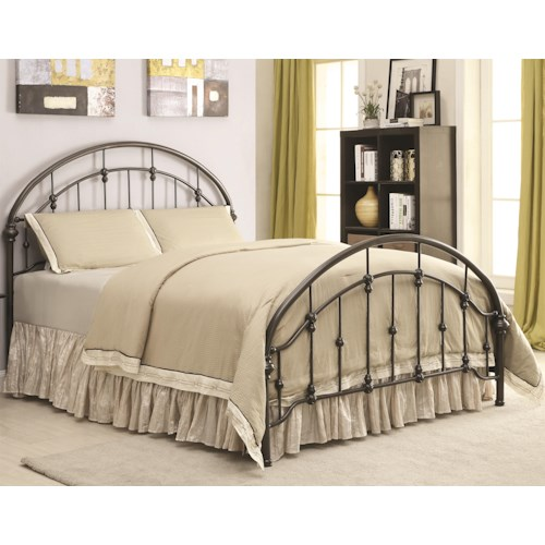 Coaster Iron Beds and Headboards Metal Curved California King Bed