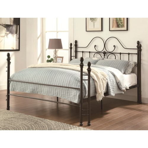 Coaster Iron Beds and Headboards Traditional-style Iron Queen Bed with Scroll Design