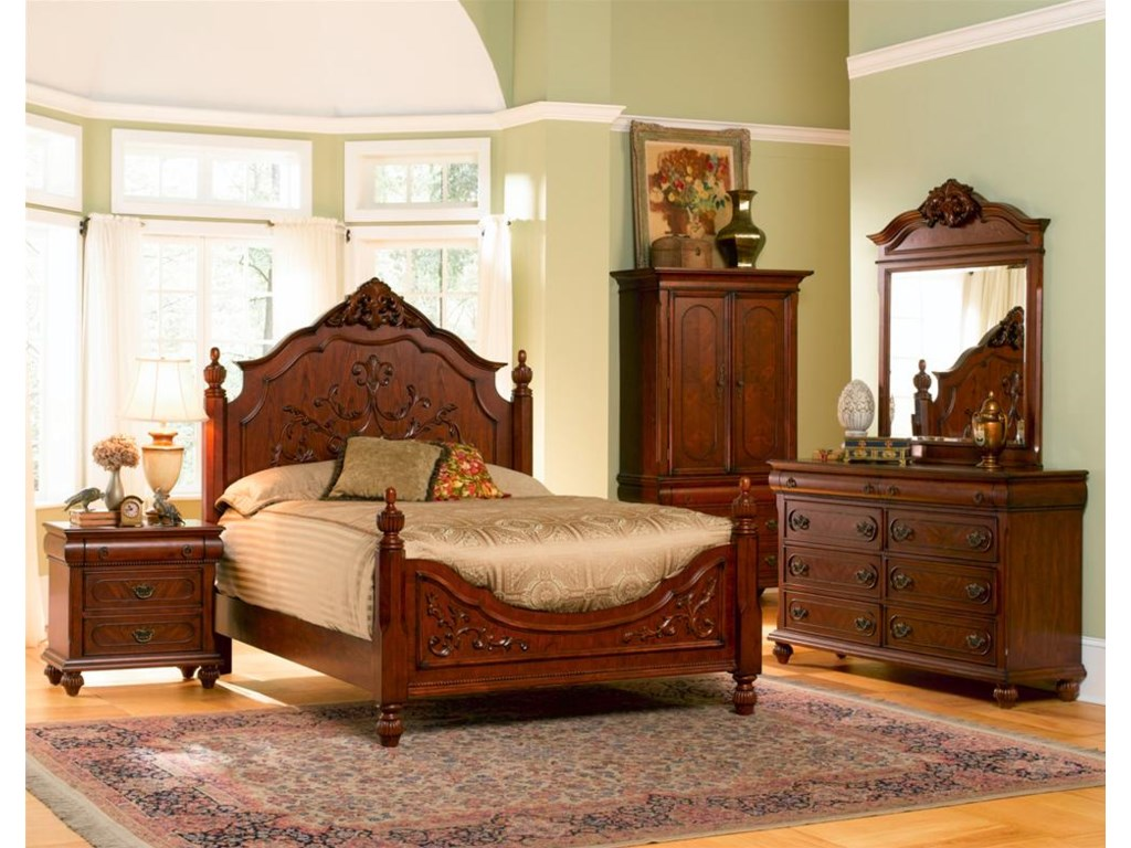 Shown with Nightstand, Dresser, and Mirror. Bed Shown May Not Represent Size Indicated.