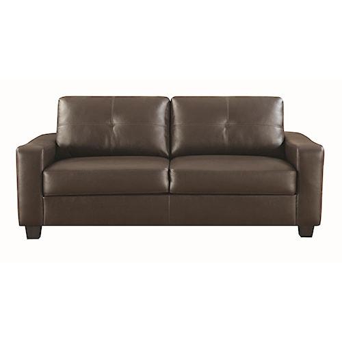 Coaster Jasmine Bonded Leather Sofa