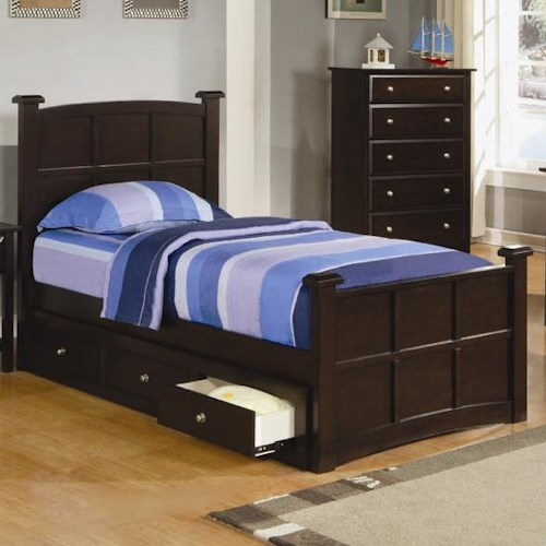 Coaster Jasper Twin Storage Bed with Drawers