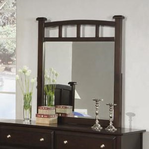 Coaster Jasper Dresser Mirror with Curved Frame
