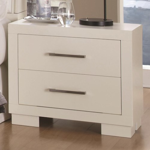 Coaster Jessica 2 Drawer Nightstand