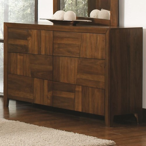 Coaster Joyce Transitional 6 Drawer Dresser