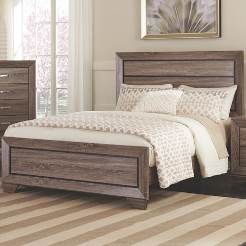Coaster Kauffman Queen Bed with Panel Design