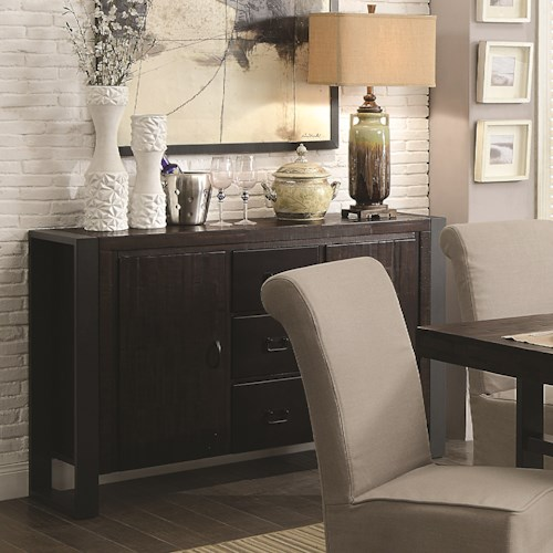 Coaster Keller Contemporary Server with Concealed Storage