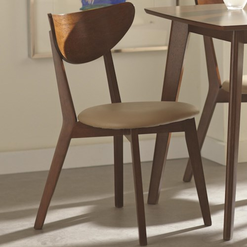 Coaster Kersey Dining Side Chairs with Curved Backs