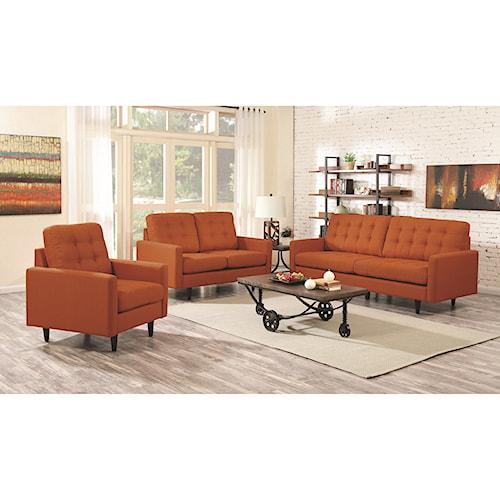 Coaster Kesson Mid-Century Modern Living Room Group