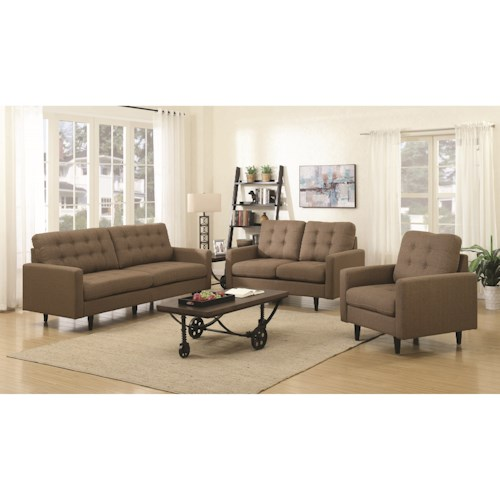 Coaster Kesson Mid-Century Modern Living Room Group