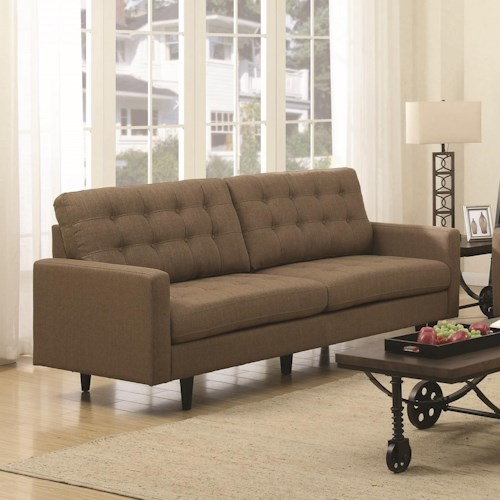 Coaster Kesson Mid-Century Modern Sofa