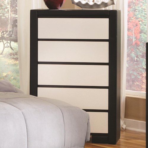 Coaster Regan 5 Drawer Upholstered Chest