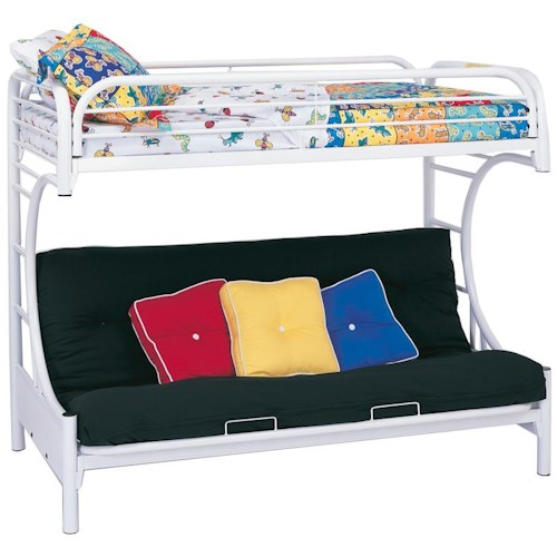Coaster Fordham C Style Twin Over Full Futon Bunk Bed