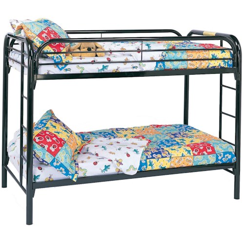 Coaster Fordham Twin Over Twin Bunk Bed with Built-In Ladders