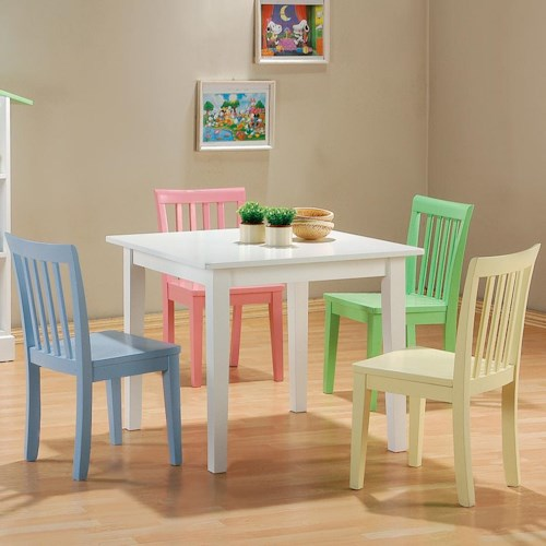 Coaster Kinzie 5 Piece Youth Table and Chair Set