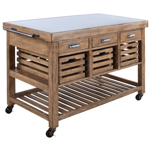 Coaster Kitchen Carts 100307 Serving Trolley | Northeast Factory ...