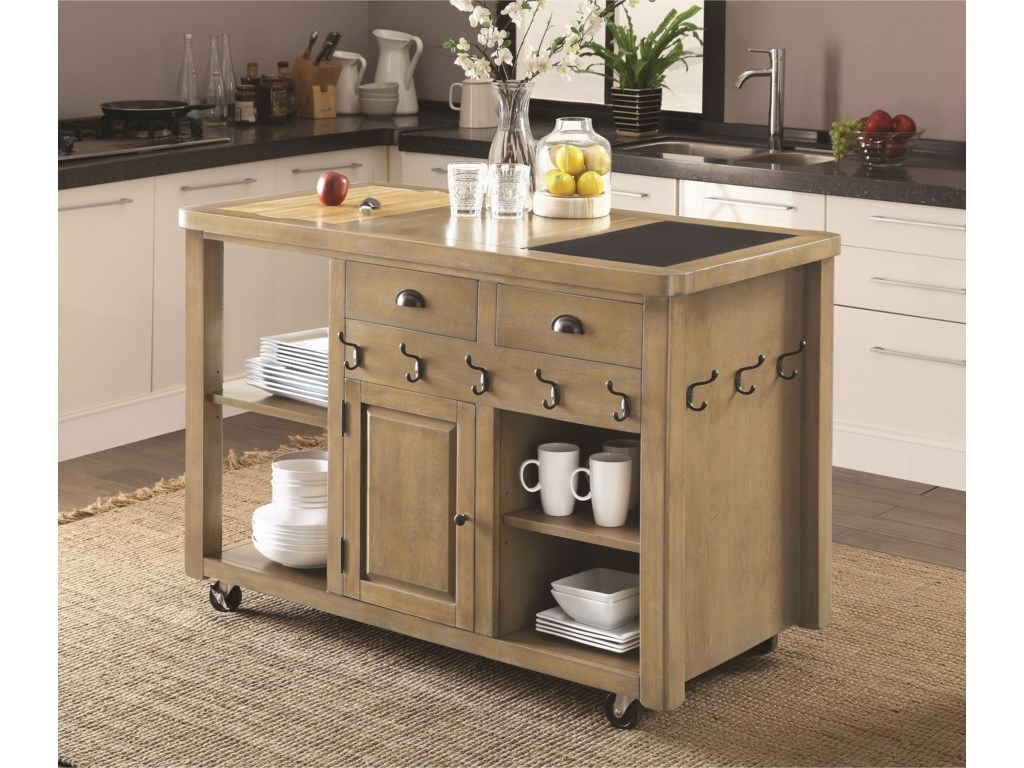 Furniture Kitchen Island Coaster Kitchen Carts Weathered Kitchen Island With Casters Del