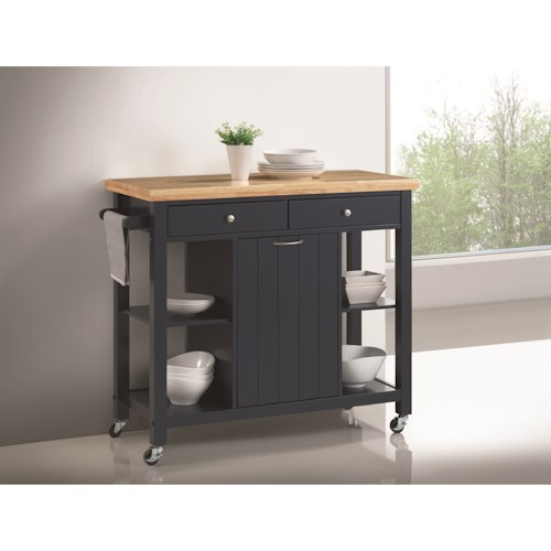 Coaster Kitchen Carts Kitchen Island with Casters