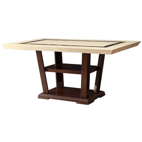 Coaster Lacombe Rectangular Dining Table with Pedestal