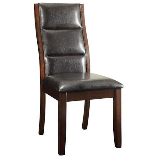 Coaster Lacombe Upholstered Leatherette Parson Chair