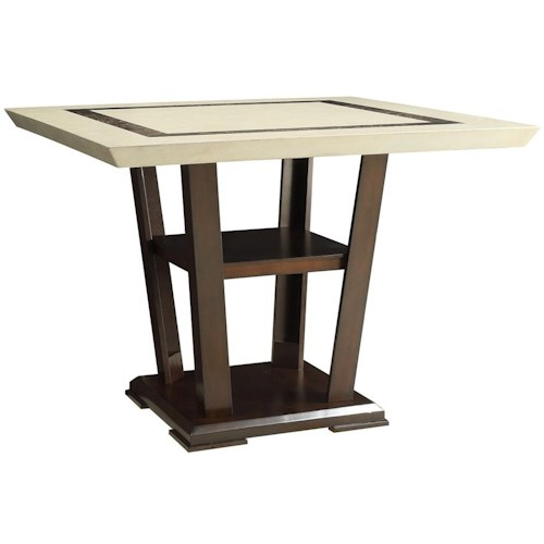 Coaster Lacombe Counter Height Table with Pedestal