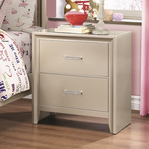 Coaster Lana Night Stand with Two Dovetail Drawers