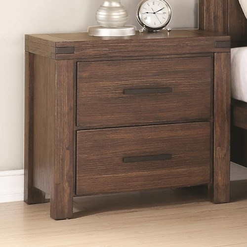 Coaster Lancashire Two Drawer Nightstand with Built-In Charging Station