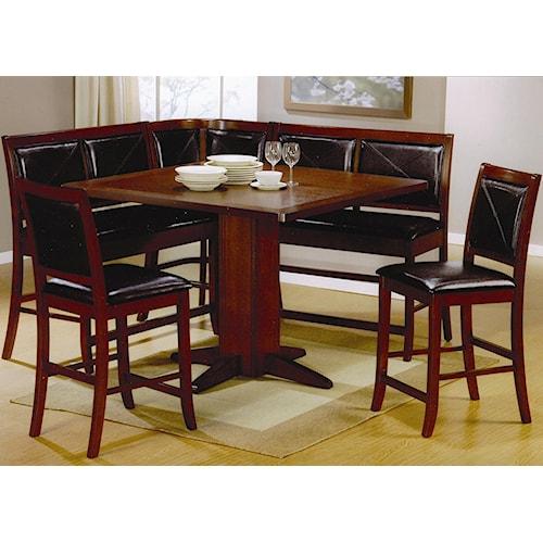 Coaster Lancaster 6 Piece Counter Height Dining Set