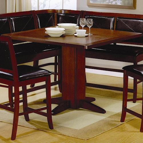 Coaster Lancaster Counter Height Pedestal Table