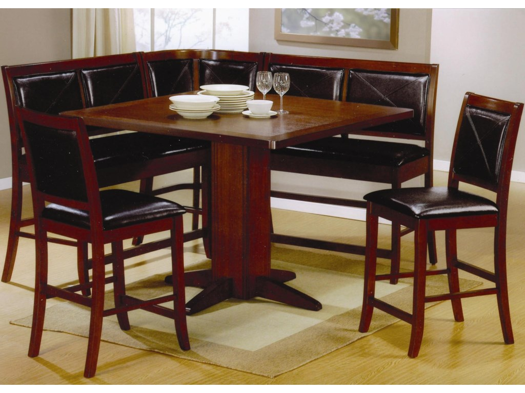 Shown with Bar Stools, Benches, and Corner Unit