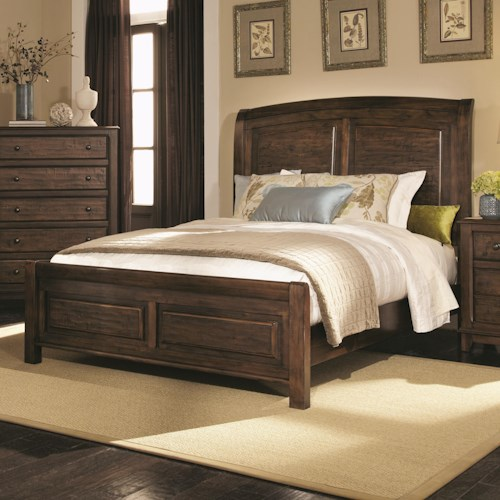 Coaster Laughton Casual King Sleigh Bed
