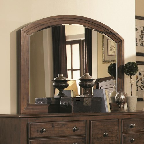 Coaster Laughton Casual Framed Mirror with Rounded Edge