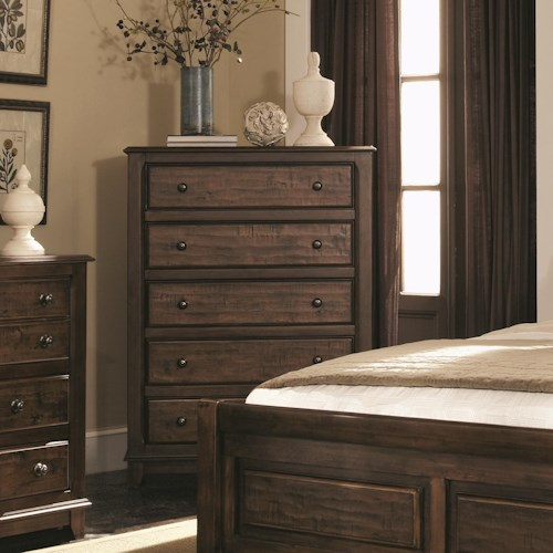 Coaster Laughton Casual 5 Drawer Chest