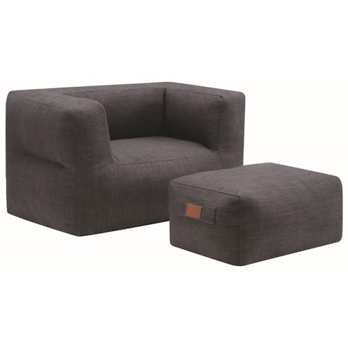 Coaster Lazy Life Casual Chair And Ottoman