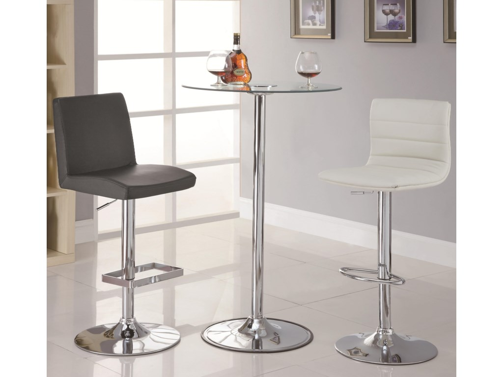 Shown with Adjustable Bar Stools
