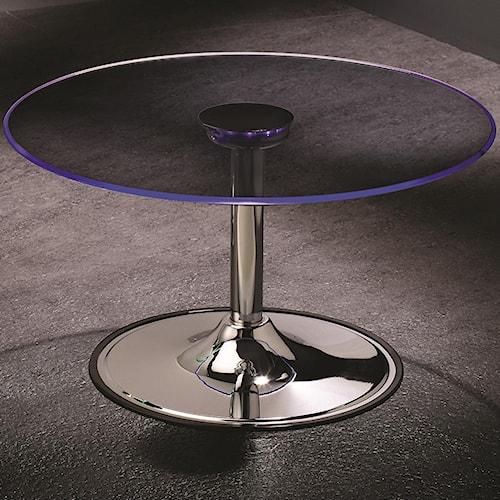 Coaster LED Transitioning LED Coffee Table with Chrome Base