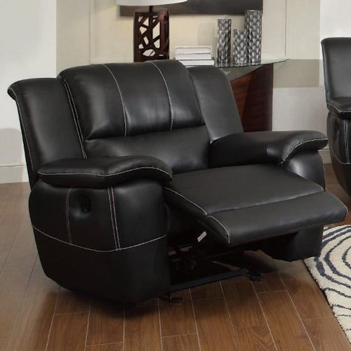 Coaster Lee Transitional Glider Recliner with Pillow Arms