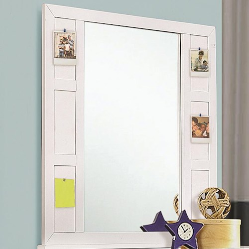 Coaster Lemoore Dresser Mirror with Pinboard