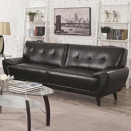 Coaster Leskow Mid Century Modern Sofa