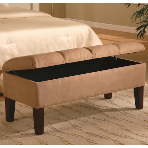 Coaster Lewis Upholstered Storage Bench